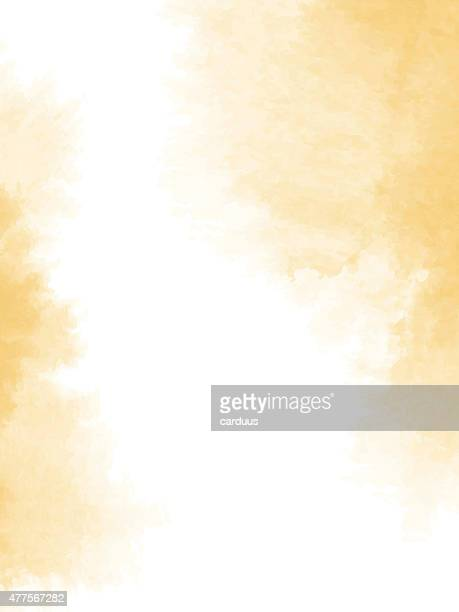 abstract  watercolor background - yellow stock illustrations