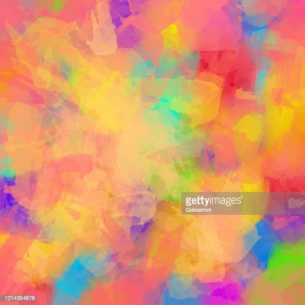 abstrakte aquarell hintergrund mit hellen farbe pinselstriche. abstraktes vektormuster. abstrakte hintergrundtextur für karten, party-einladung, verpackung, oberflächengestaltung. - aquarellhintergrund stock-grafiken, -clipart, -cartoons und -symbole