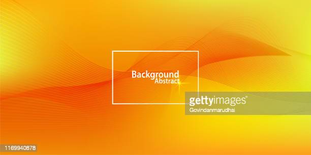 stockillustraties, clipart, cartoons en iconen met abstracte golf achtergrond - oranje