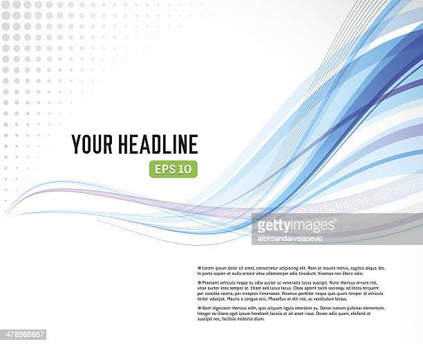 abstract wave background - vanishing point stock illustrations