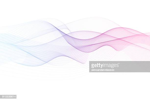 abstract wave background - curve stock illustrations, clip art, cartoons, & icons