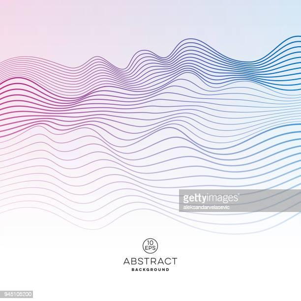ilustrações, clipart, desenhos animados e ícones de fundo abstrato onda - oscilação curvada