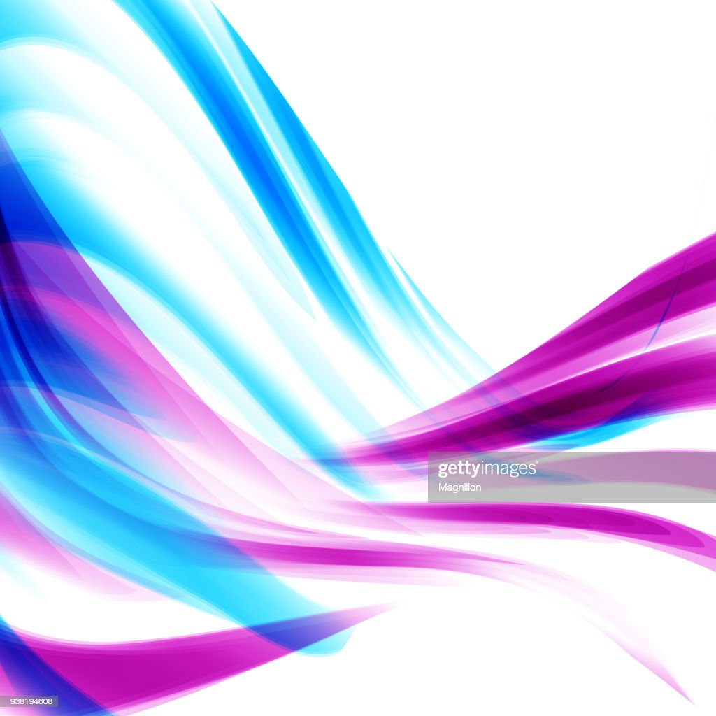 abstract wave blue pink background vector art