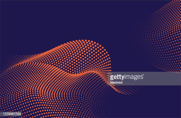 abstract wave pattern technology background - wire mesh stock illustrations