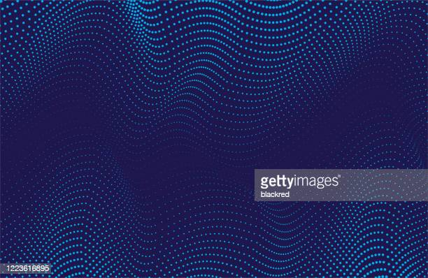 abstract wave pattern technology background - artificial intelligence stock illustrations