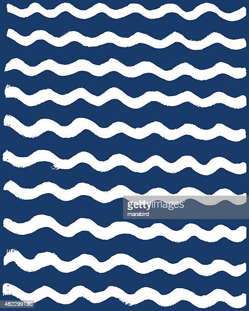 abstract wave muster - marineblau stock-grafiken, -clipart, -cartoons und -symbole