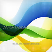Abstract waved line vector background