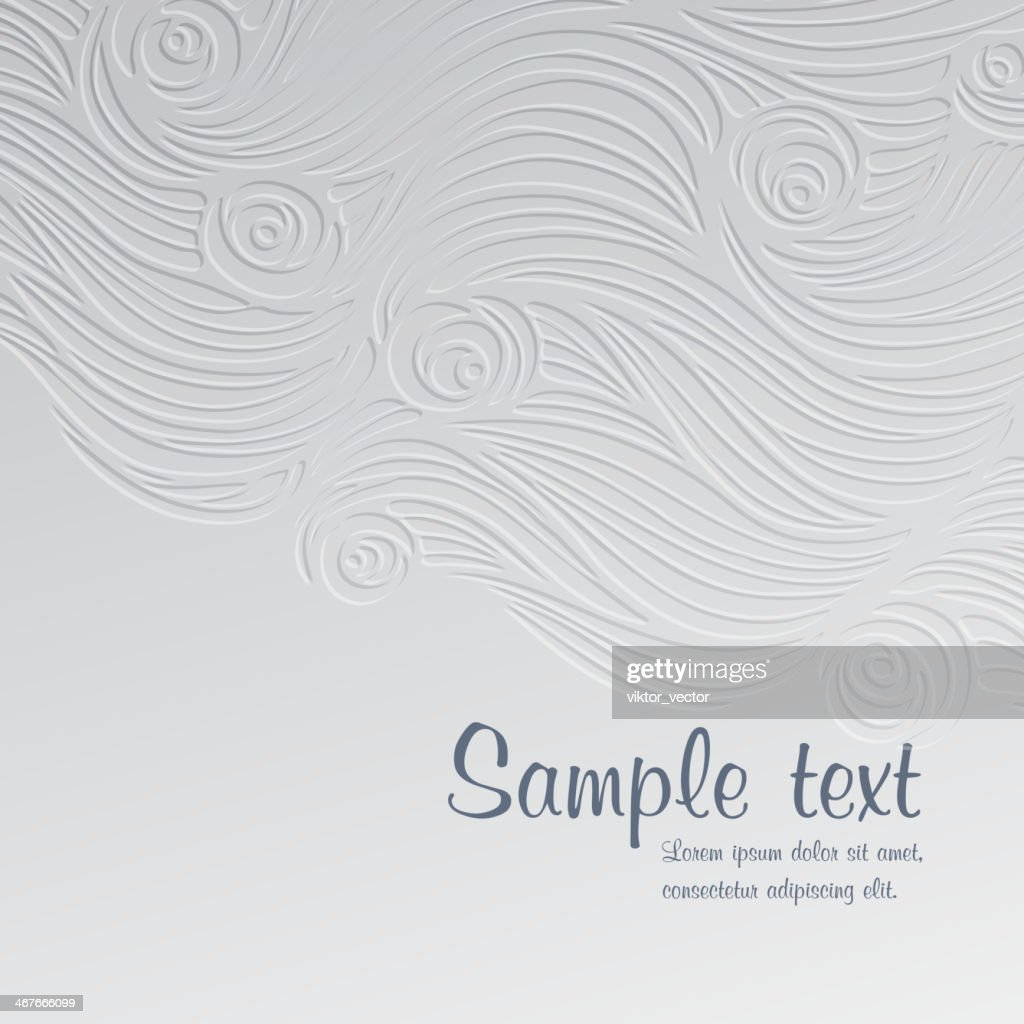 A abstract waves and roses card template : Stock Illustration
