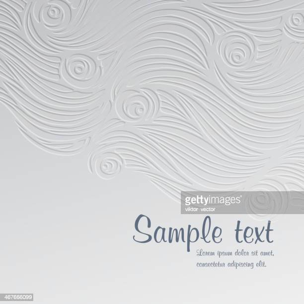 a abstract waves and roses card template - grace stock illustrations