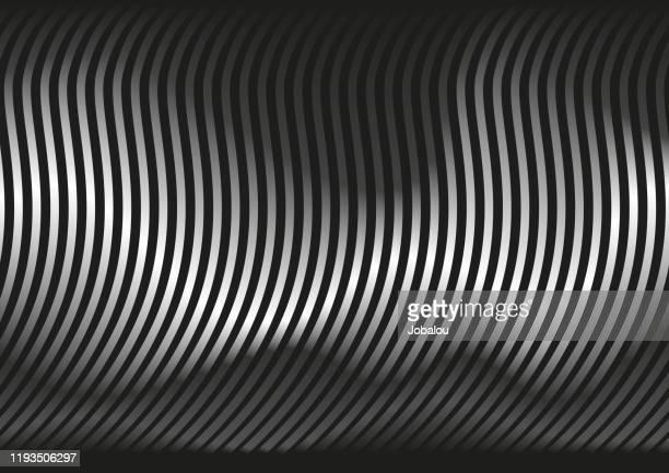 illustrazioni stock, clip art, cartoni animati e icone di tendenza di onde astratte luci e ombre - scuotere