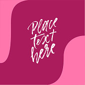 Abstract waves shapes and copy space in center on deep pink background for banner, card, brochure, invitation design.
