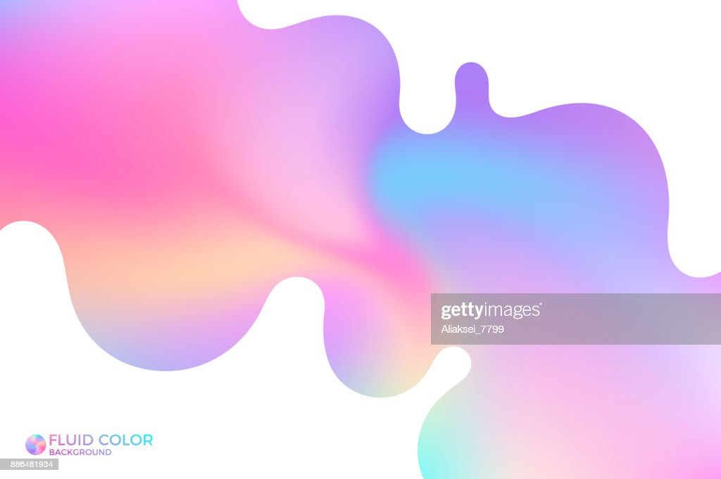 Abstract wavy background. Iridescent background