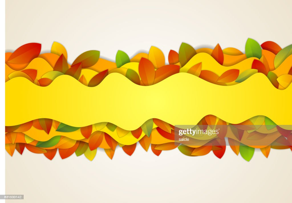 Abstract wavy corporate autumn background