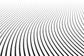 Abstract wavy lines design. Diminishing perspective view.