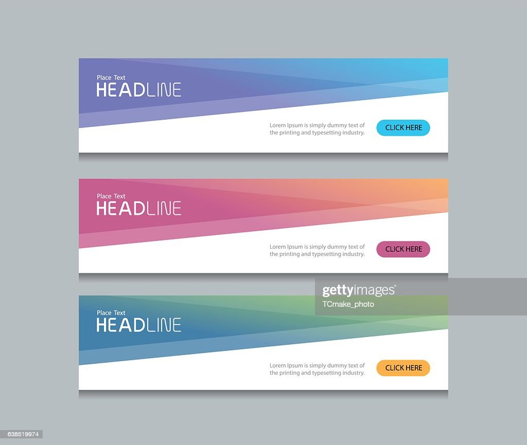 abstract web banner design background template