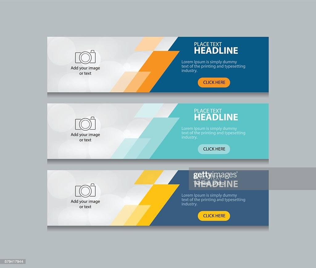 abstract web banner design template background  set