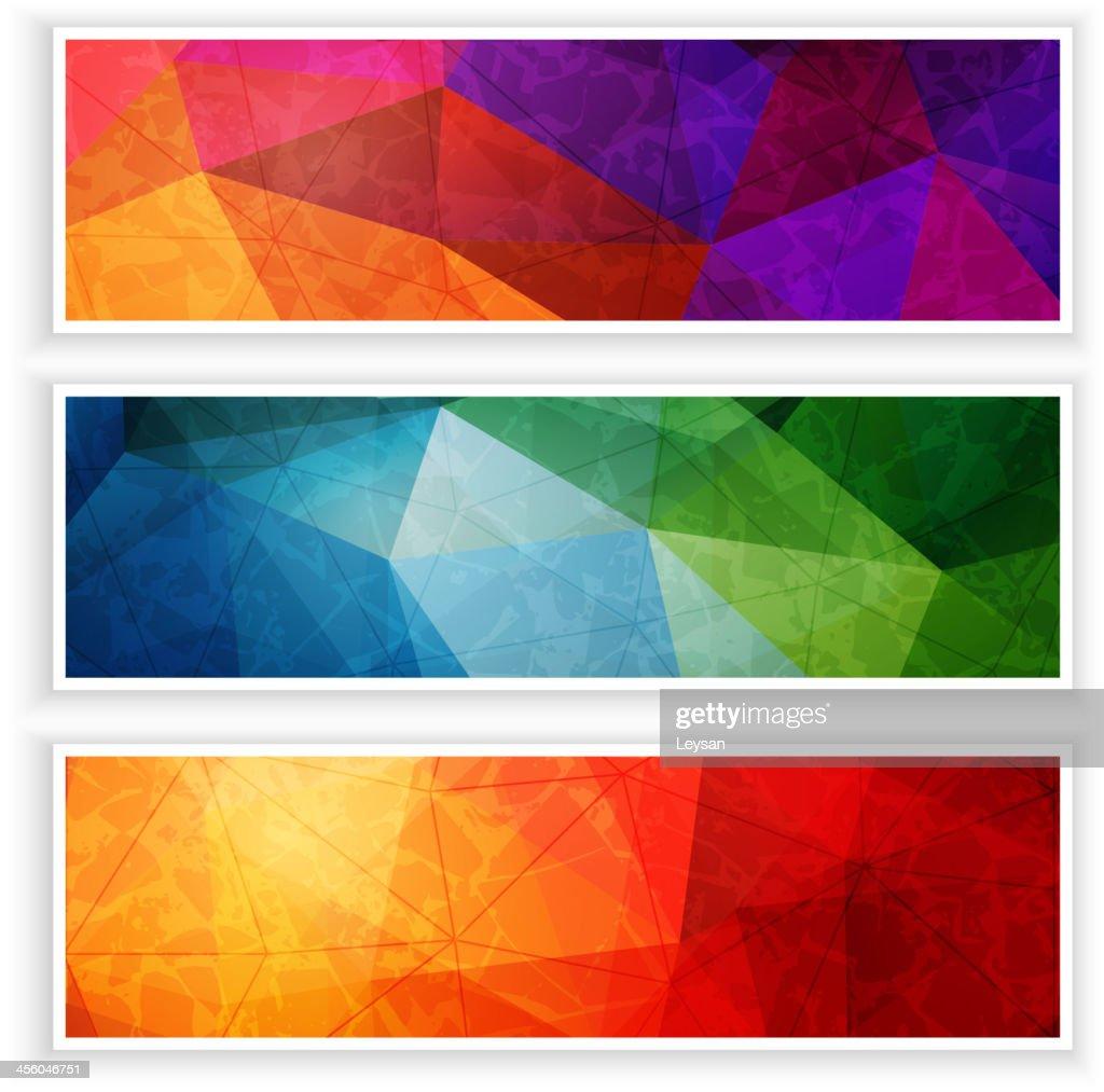Abstract web headers set