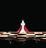 abstract white and black chessmen