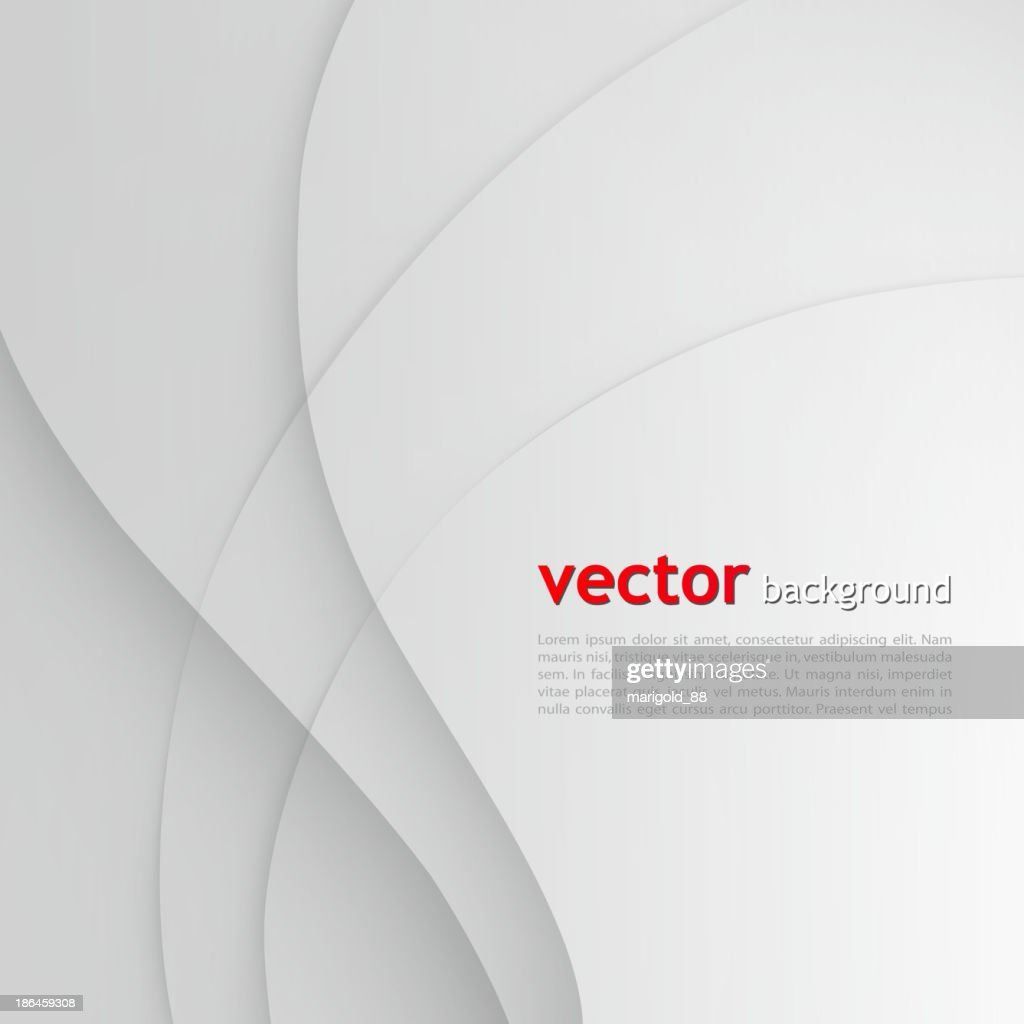 Abstract white and gray background with wavy lines