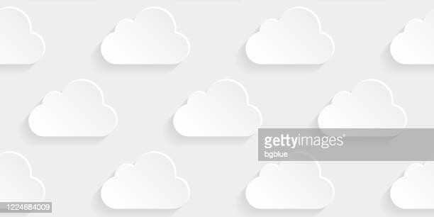 abstrakter weißer hintergrund - wolkenmuster - bedeckter himmel stock-grafiken, -clipart, -cartoons und -symbole