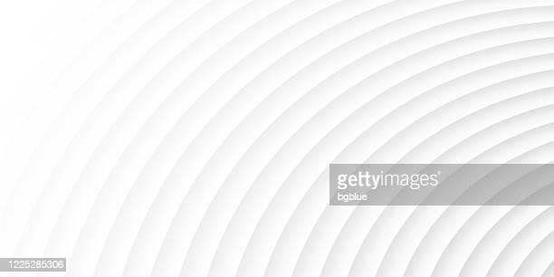 abstrakter weißer hintergrund - geometrische textur - wellenförmig stock-grafiken, -clipart, -cartoons und -symbole