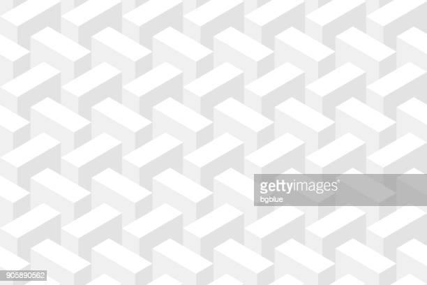 illustrazioni stock, clip art, cartoni animati e icone di tendenza di sfondo bianco astratto - texture geometrica - rettangolo