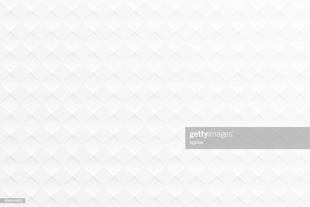 Abstract white background - Geometric texture : Stock Illustration