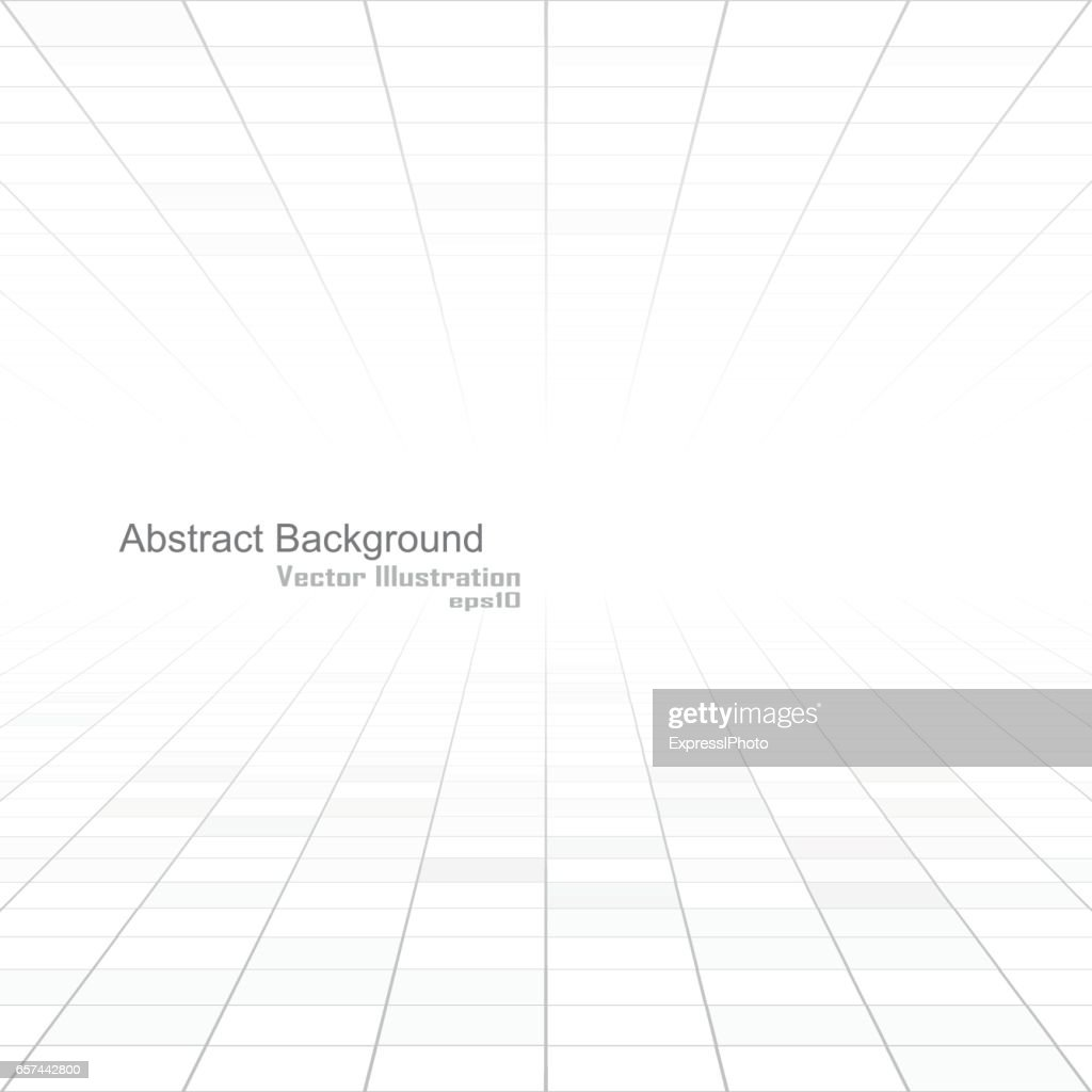Abstract white background of vision perspective.
