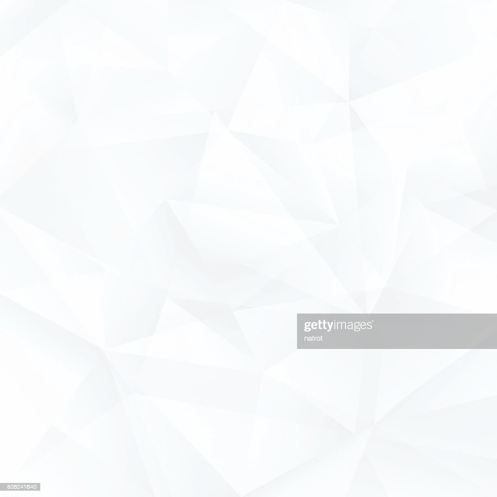 Abstract white background, triangle pattern