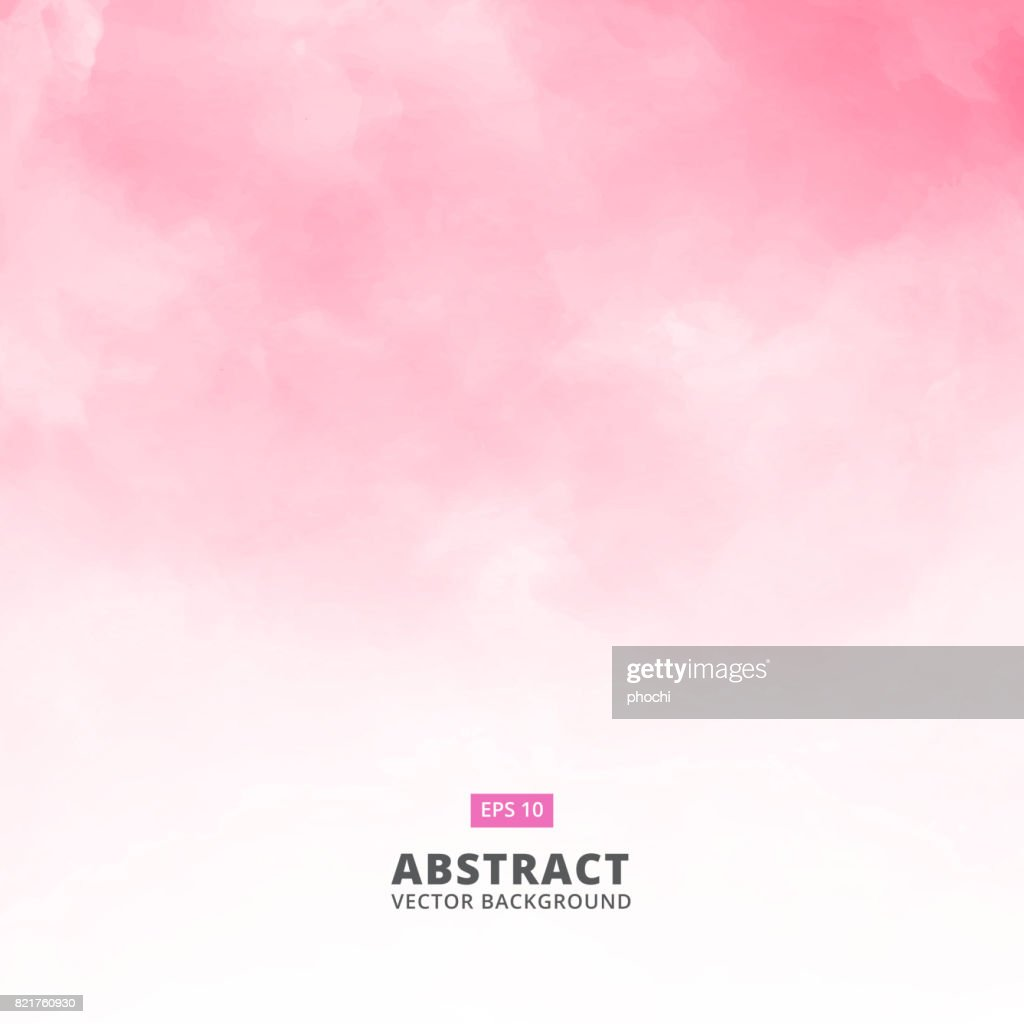 Abstract white cloud detail in pink sky vector illustration background with copy