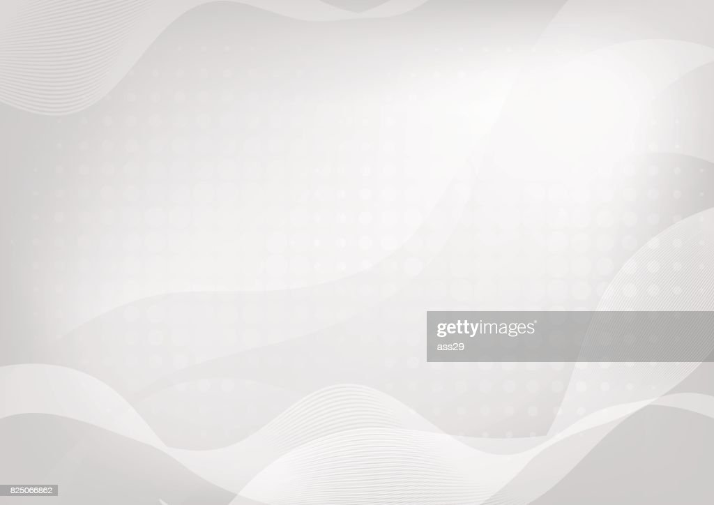 Abstract white curve on gray background with soft light and halftone. Vector illustration