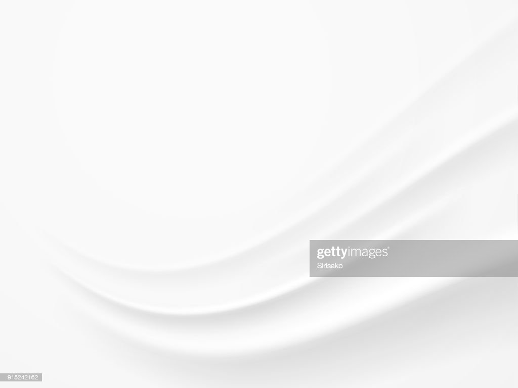 Abstract White , Gray Background with Clean Smooth Soft Wave , Vector Illustration