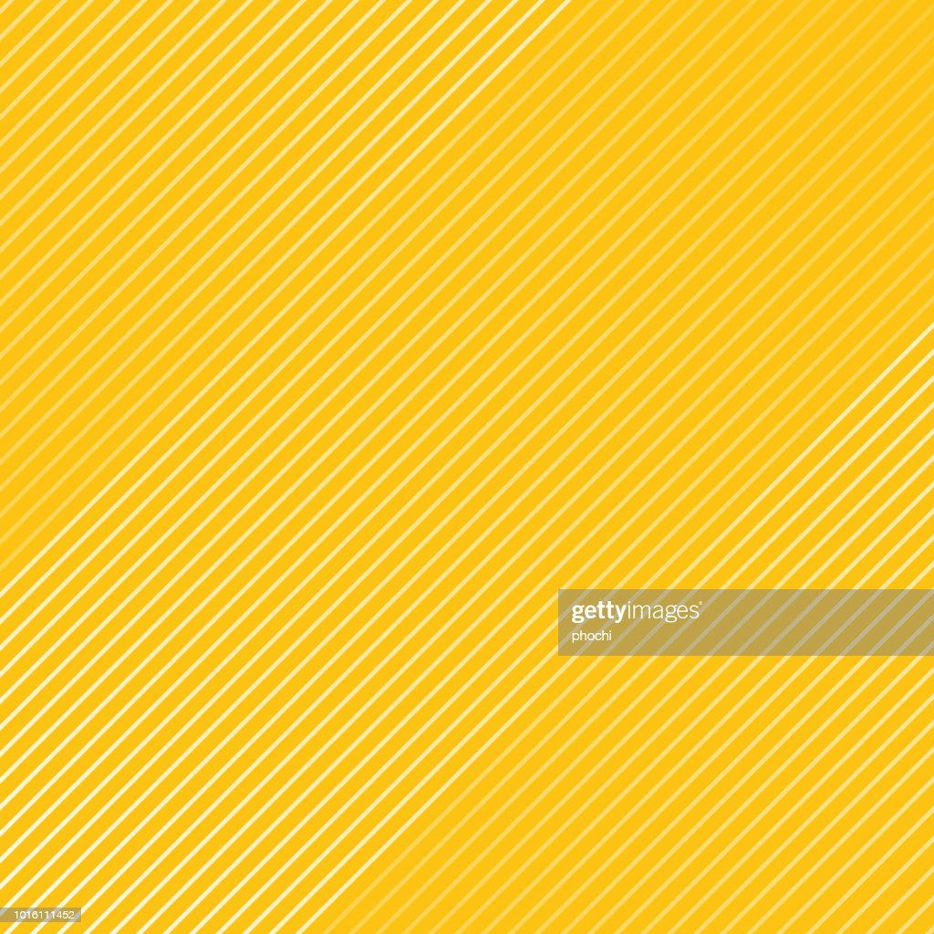 Abstract white striped lines pattern Diagonally texture on yellow color background.