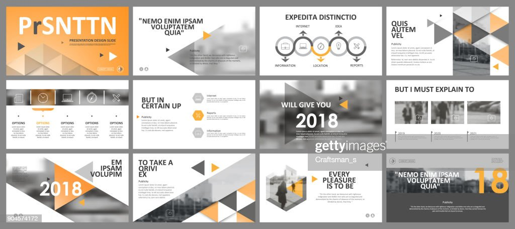 Abstract white, yellow presentation slides. Modern brochure cover design. Fancy info banner frame. Creative infographic element set. Urban city font. Vector title sheet model. Ad flyer style template