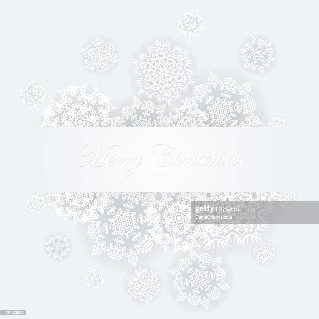 Abstract winter design with snowflakes. Vector illustration