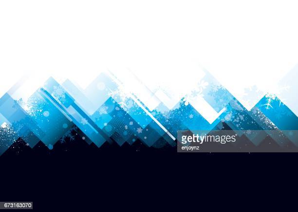 Abstract winter mountains background