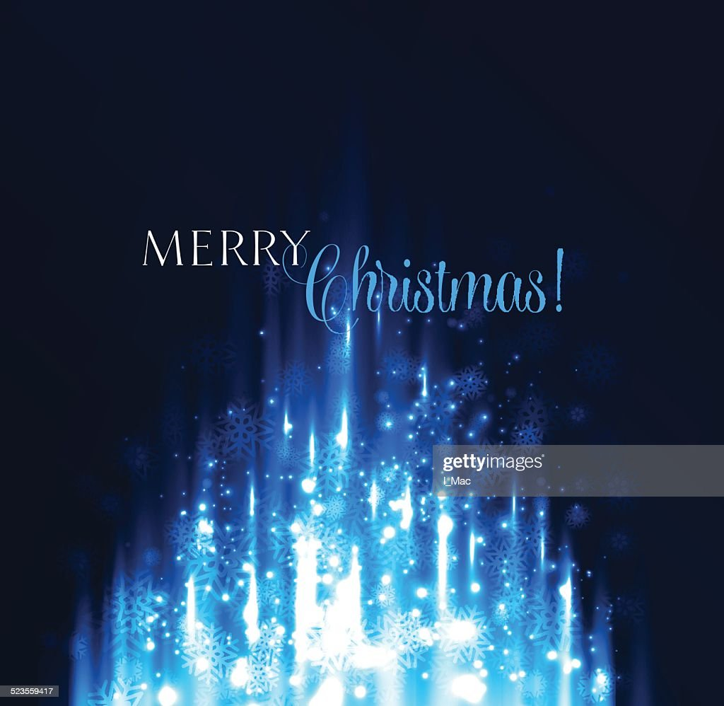 Abstract winter snowflakes background.