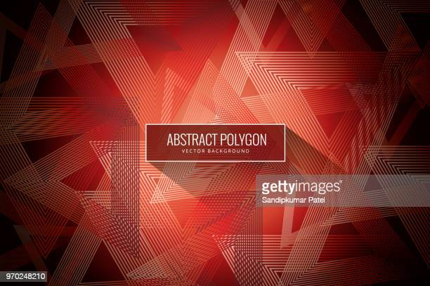 Abstract wire frame polygonal element