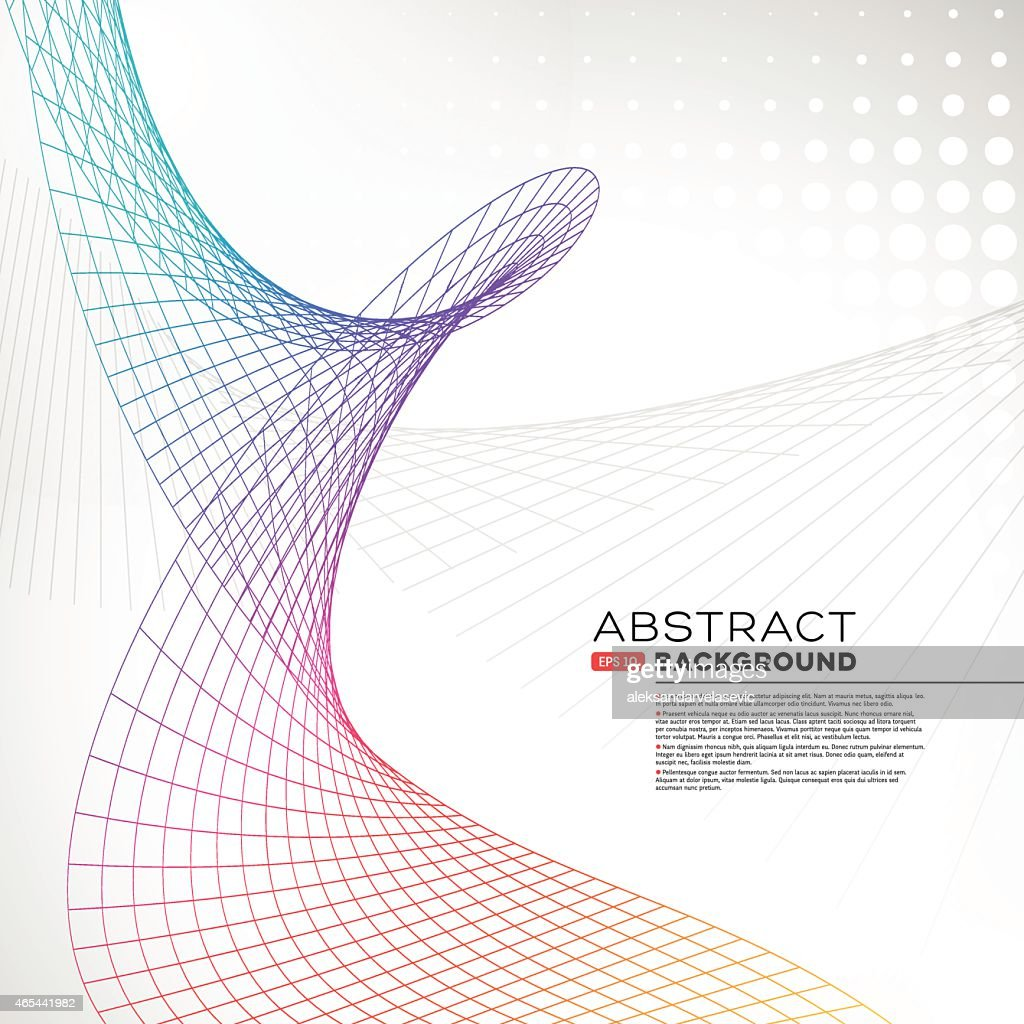 Abstract Wire Mesh Wave Background Vector Art | Getty Images