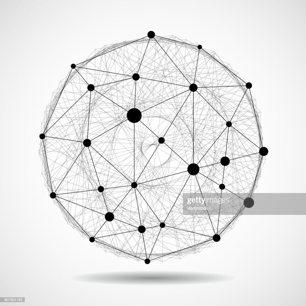 Abstract Wireframe Globe Sphere Vector Art | Getty Images