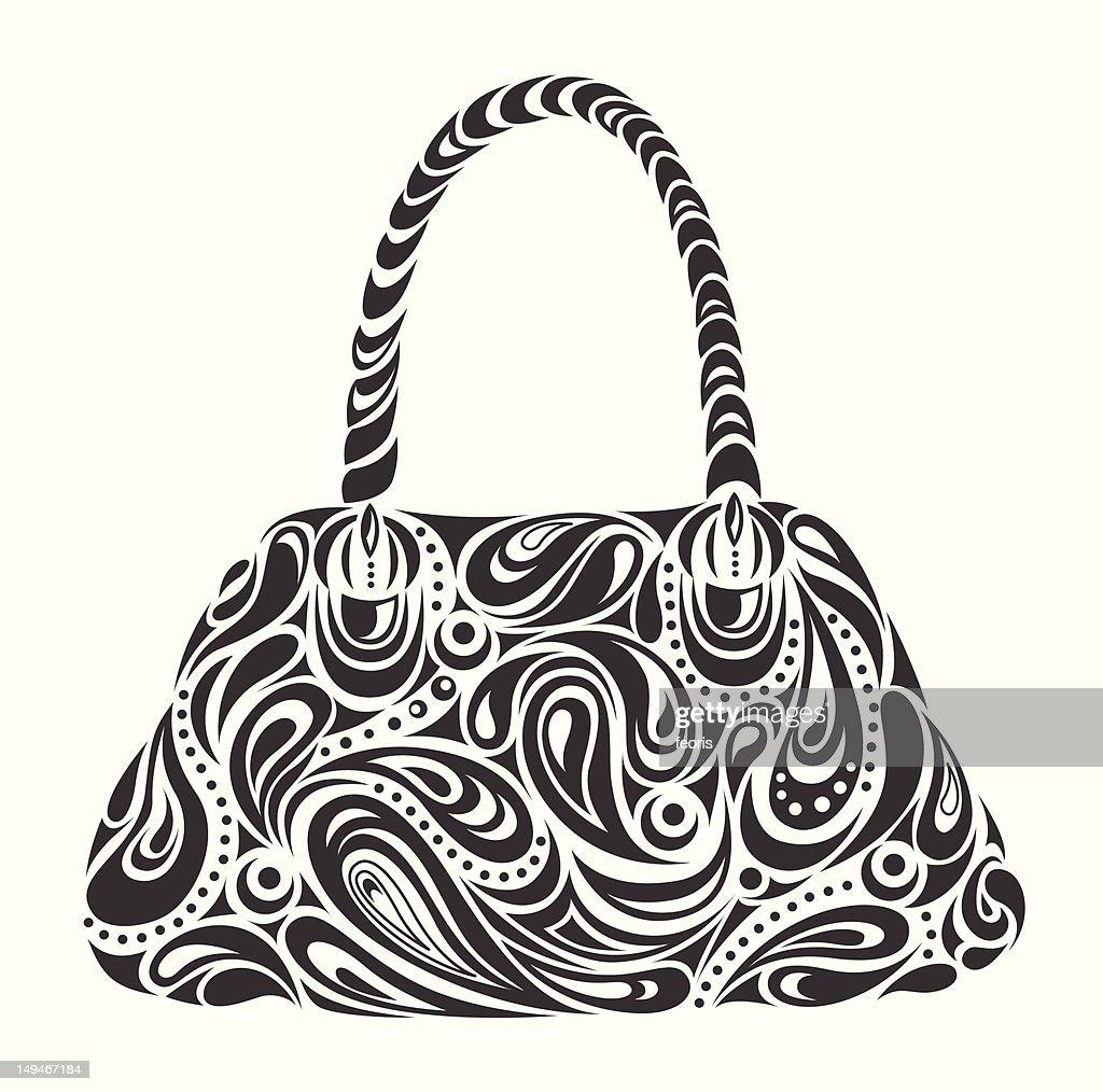 abstract woman's handbag