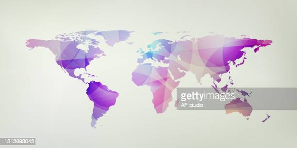 abstract world map background - af-studio stock illustrations