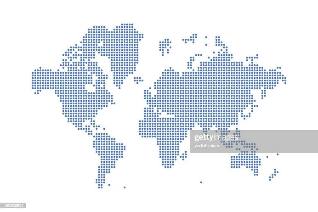 Abstract world map in a round dots flat vector illustration eps 10 abstract world map in a round dots flat vector illustration eps 10 vector art gumiabroncs Gallery