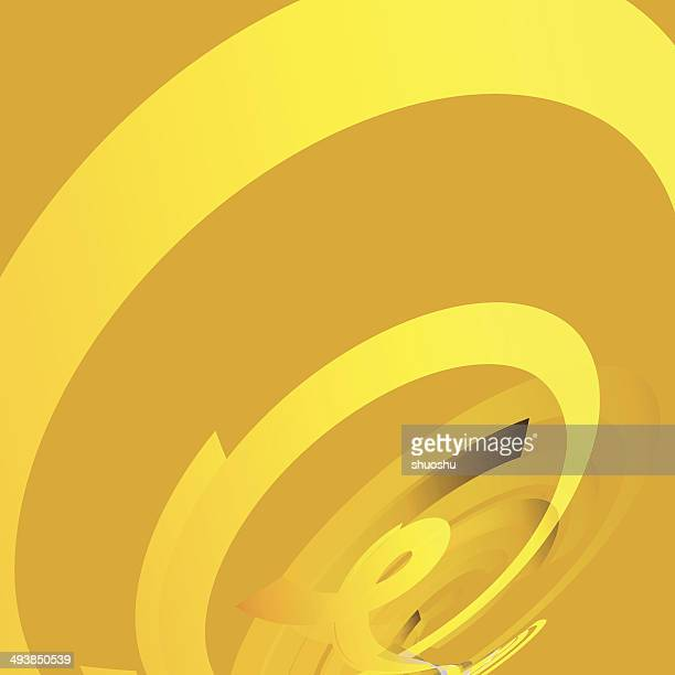 abstract yellow circle technology pattern background