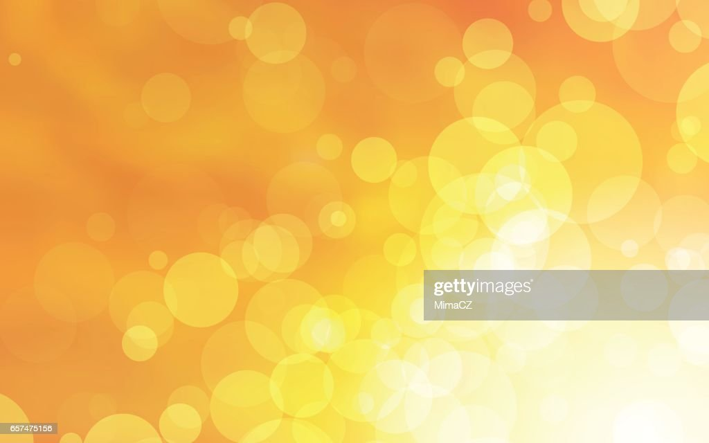 abstract yellow circles vector design