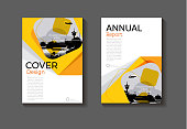 abstract yellow modern cover design modern book cover  Brochure cover  template,annual report, magazine and flyer layout Vector a4