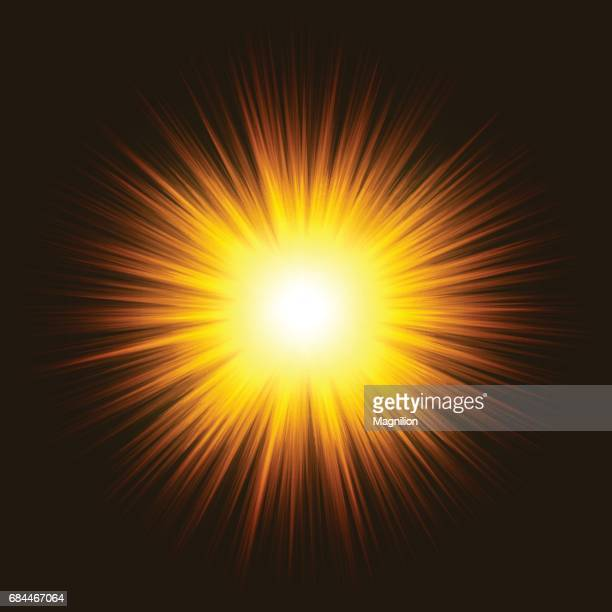 Abstract Yellow Sunburst Background