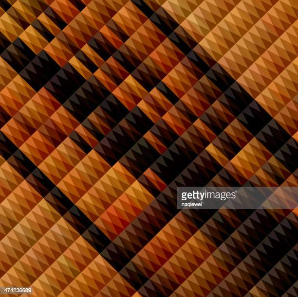 Abstrato amarelo fundo preto com padrão de losango