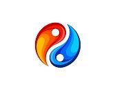 abstract yin yang vector