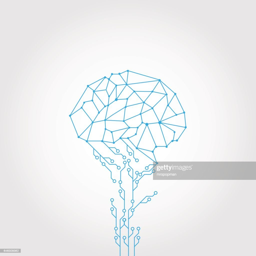AbstractCircuit and style brain vector technology